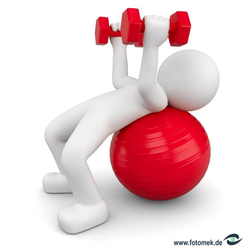 weiises 3d Männchen Fitness - Training