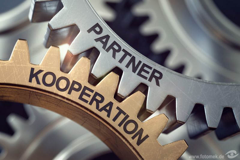 3d Zahnräder Partner Kooperation