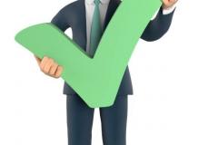 Businessman mit grünen Haken-2