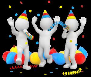 3d Männchen Geburtstagsfeier Party - Fotomek