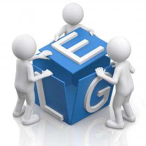 3d Männchen mit Logo -Teamwork - ELG - Fotomek