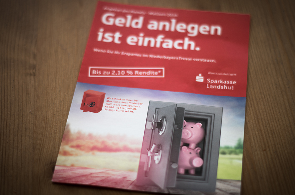 3D Schweinnchen Illustration - Werbekampagne Sparkasse