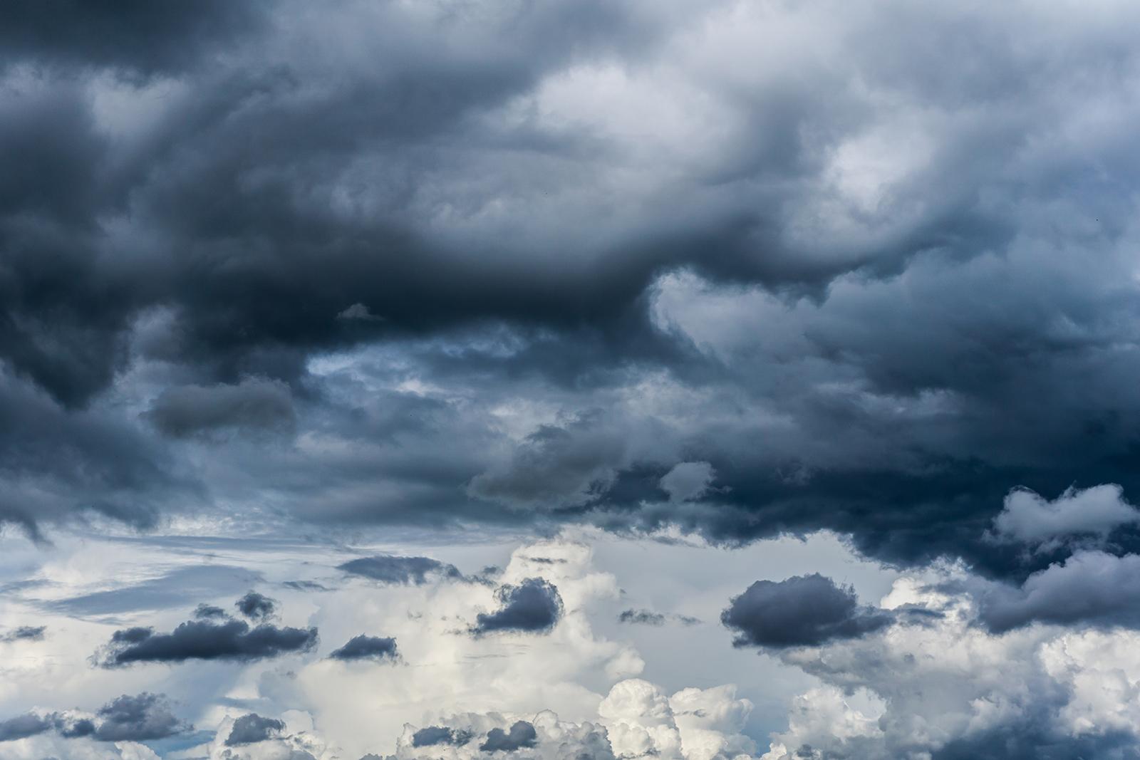 Dramatisches Wolkenbild
