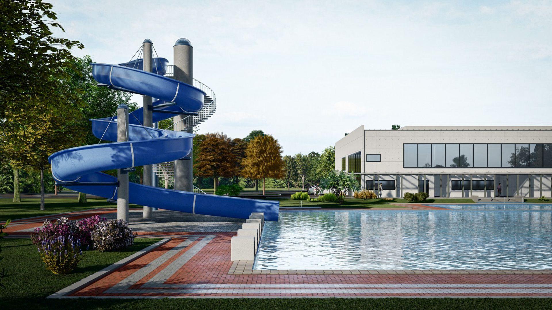 Schwimmbad Moosburg Außenbecken